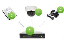 комплект видеонаблюдения для квартиры